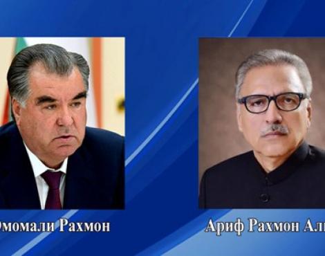 Телеграмма соболезнования Президента Республики Таджикистан Эмомали Рахмона Президенту Исламской Республики Пакистан Орифу Алви