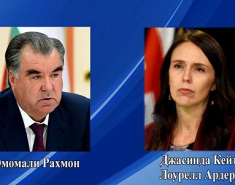 Телеграмма соболезнования Президента Республики Таджикистан Эмомали Рахмона Премьер-министру Новой Зеландии