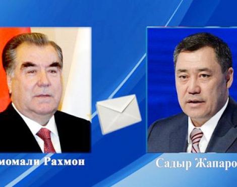 Президент Республики Таджикистан направил поздравительную телеграмму избранному Президенту Кыргызской Республики
