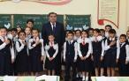 Президент Республики Таджикистан Эмомали Рахмон принял участие в открытии школы города Душанбе