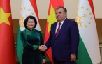 Лидер нации Эмомали Рахмон принял Вице-президента Республики Вьетнам Данг Тхи Нгок Тхинь