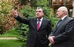 Ознакомление Эмомали Рахмона и Александра Лукашенко с неповторимыми пейзажами Варзобского района