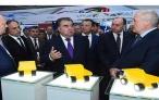 Президент Таджикистана Эмомали Рахмон и Президент Беларуси Александр Лукашенко приняли участие в церемонии открытия выставки