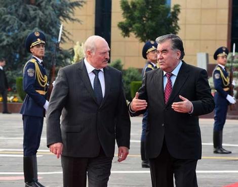 Завершение официального визита Президента Республики Беларусь в Таджикистан