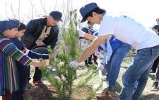 В Парке Победы столицы посадили 2020 деревьев